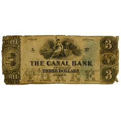 Canal Bank of Albany, 1830s? Obsolete Banknote.