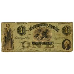 Farmers Bank of Bucks County, 1861 Issued Obsolete banknote.