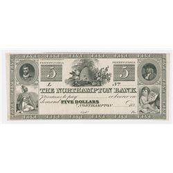 Northampton Bank, 183x Proof Obsolete Banknote.