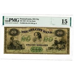 Oil City Bank, 1864, $20, Issued Obsolete Banknote