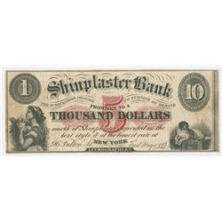 Shinplaster Bank, Lithographer Advertising Note, ca. 1860's.