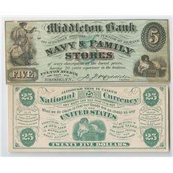 Advertising Note Pair, ND (ca.1880's)