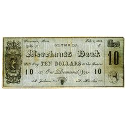 Howes Business College, Merchants Bank, 1864 College Currency.