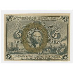 U.S. Fractional Currency, 5 Cents, 2nd Issue, Fr# 1232.