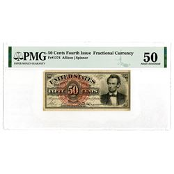 U.S. Fractional Currency, 50 Cents, Fourth Issue, Fr#1374.
