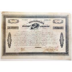 Confederate States of America 1863, $12,000 Bond