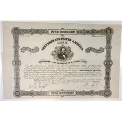Confederate States of America, 1862 Issued Bond