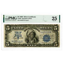 U.S. Silver Certificate. $5, 1899, Fr#281, Speelman | White Signatures.