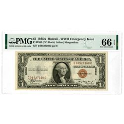 U.S. Silver Certificate, $1, 1935A Hawaii - WWII Emergency Issue, Fr#2300.