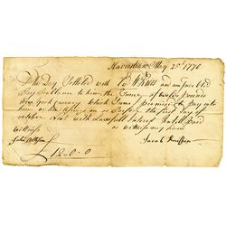 """Jacob Kniffin 1770 Promissory Note from Haverstraw, NY, Payable in """"New York Currency""""."""