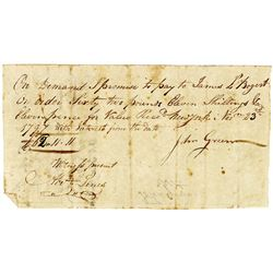 John Green 1797 Promissory Note