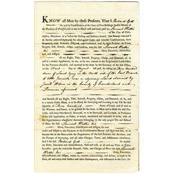 Samuel Wallis 1766 Issued Pennsylvania Province Land Deed