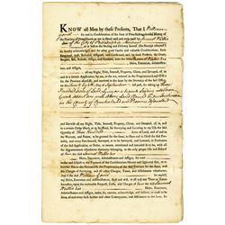Samuel Wallis 1768 Issued Pennsylvania Province Land Deed