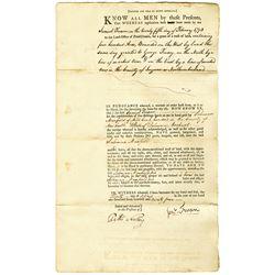 Solomon Maxfield 1794 Issued Pennsylvania Land Grant