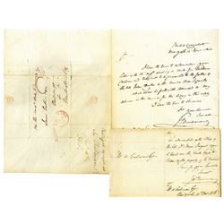 James Madison Buchanan (Diplomat) ca.1828-1840 Letter Pair