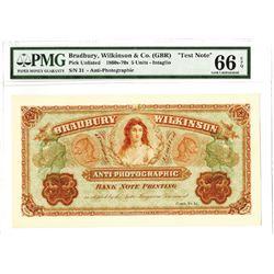 Bradbury Wilkinson & Co. Ltd. 1860-70's. Anti-Photographic Bank Note Printing Advertising Note.