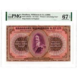 Bradbury, Wilkinson & Co. ND (ca. 1960s). Printer's Advertising Banknote.