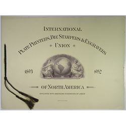 International Plate Printers, Die Stampers and Engravers Union of N.A., 1952 - 60th Anniversary Conv