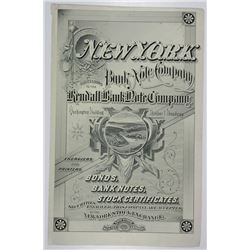 New York Bank Note Company, 1880's Advertising Sheet from Poor's Manual.