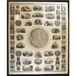 Draper, Underwood, Bald & Spencer, ND, ca.1820's Proof Advertising Sample Sheet.