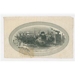 Santa Claus Vignette, ND (ca.1850-60's) Litho Proof
