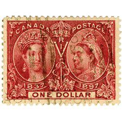 Canada, Scott# 61, 1897, $1 Jubilee