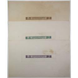 1912 Cigars Revenue Die Proofs trio