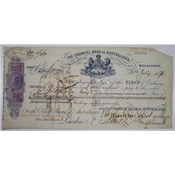 Colonial Bank of Australasia. 1870. Issued Note.