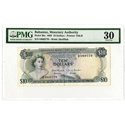 Bahamas Monetary Authority, 1968 Issue Banknote.