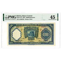 Banco Central De Bolivia, 1942 Issue Banknote.