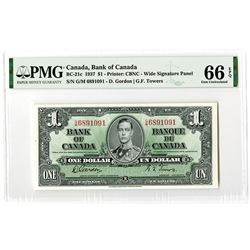Bank of Canada. 1937. Issued Banknote.