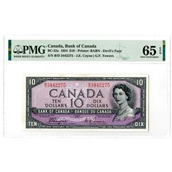 "Bank of Canada. 1954. Issued ""Devil's Face"" Banknote."