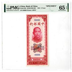 Bank of China, 1941 Specimen Banknotes.
