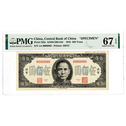 Central Bank of China, 1945 Issue Specimen Banknote.