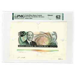 Banco Central De Costa Rica, ND (1987) Specimen/Proof.