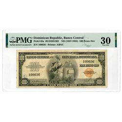 Banco Central  De La Republica Dominicana, ND (1947-1955) Issue Banknote.