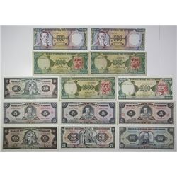 Banco Central del Ecuador. 1973-1993. Lot of 13 Issued Notes.