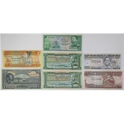 National & State Bank of Ethiopia. 1945-1997. Lot of 7 Issued Notes.