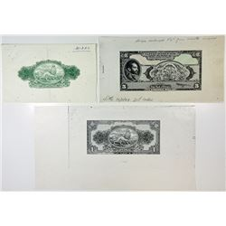 State Bank of Ethiopia. 1944. Quartet of Progressive Proofs.