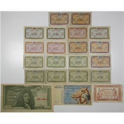 Tresorerie Aux Armees & Other Issuers. 1920s-1960s. Lot of 21 Issued Notes.