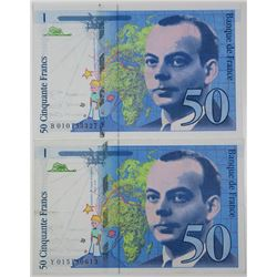 Banque de France. 1993-1994. Lot of 2 Issued Notes.