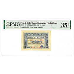 Banque de l'Indochine. 1919 (ND 1920-23). Issued Banknote.
