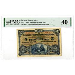 Deutsch-Ostafrikanische Bank. 1905. Issued Banknote.
