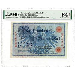 Reichsbanknote - Imperial Bank Note, 1908 Issued Banknote.