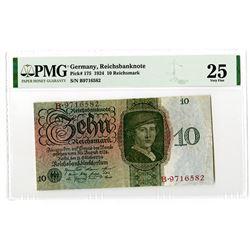 Reichsbankdirektorium. 1924. Issued Banknote.