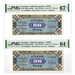 Allied Occupation WWII. 1944. Issued Banknote Pair.