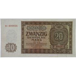 Deutschen Notenbank. 1948. Issued Replacement Note.