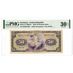 Germany - Federal Republic, Allied Occupation - Post WWII, 1948 Issued Banknote.