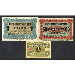 Ostbank fur Handel und Gewerbe, 1916, plus others.