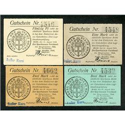 Bruhl, German Notgeld. 1914. Issued Quartet of Notes.